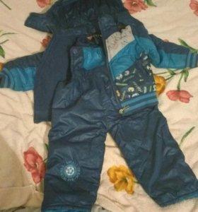 Куртка+штаны на лямках.