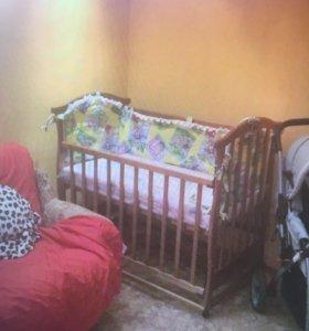 Кроватка детская + кокосовый матрац