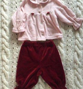Кофточка и штанишки на девочку .