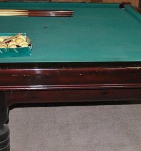 Бильярдный стол 12 футов полный комплект б/у