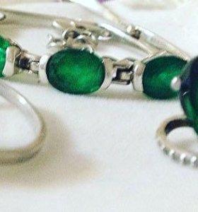 Серьги ,кольцо,браслет