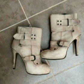 Ботильоны ботинки женские кожаные Ash