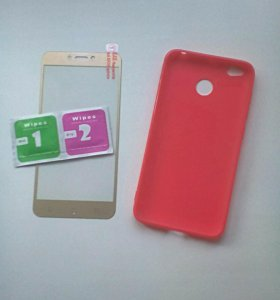 Чехол + стекло для Xiaomi Redmi 4x