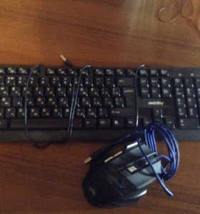 Продам клавиатуру и геймерскую мышь.