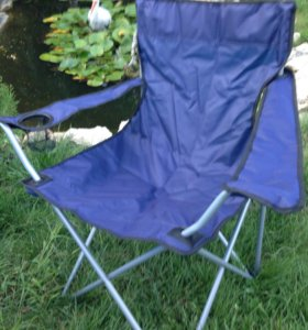 Стул рыбака раскладной. Кресло с подстаканником.