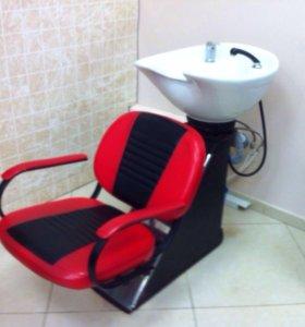 Кресла и мойка для салона красоты бу