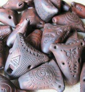 Свистульки из глины. Забава и сувенир.