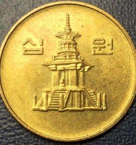 "Монета Южной Кореи, 10 вон 1997 ""Тхаботхап"""