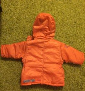 Куртка демисезонная , с утеплителем флис.12-18 мес