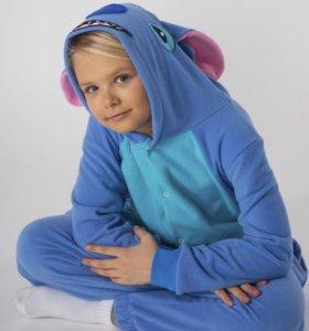 Детская пижама кигуруми Стич! Пр-во РФ! Комбинезон