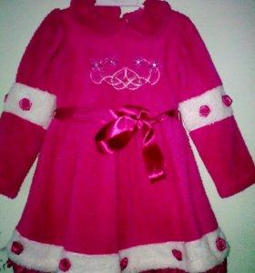 Платье махровое