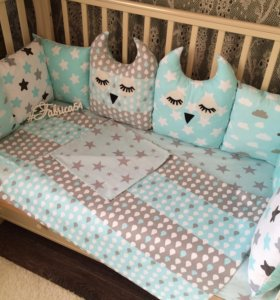 Бортики-подушечки в детскую кроватку