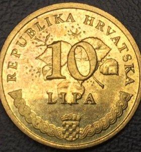 Монета Хорватии - 10 лип 2015 (duhan)