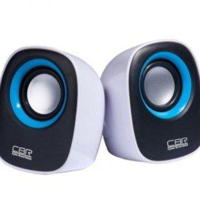 """Компьютерные колонки CBR """"CMS520 B"""" Blue"""