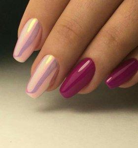 Покрытие ногтей гель-лаком,укрепление гелем