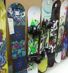 сноуборды, санки, коньки, лыжи НОВОЕ