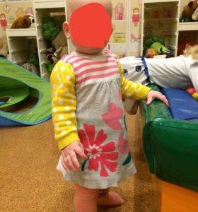 Платье вязаное, 68-74