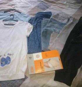 Вещи для беременной (футболки,джинсы,бриджи)44-46