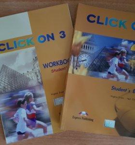 Учебник английского+тетрадь Click On3