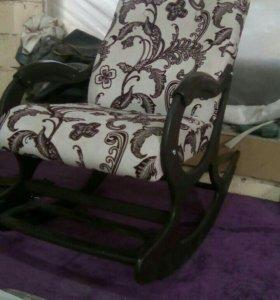Кресло-качалка Люкс с подножкой, велюр N5526-1