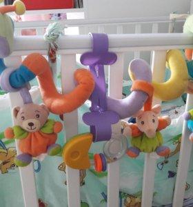 Змейка-улитка (игрушка на кроватку)