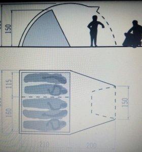 Палатка на 5 человек Vaude division dome 5