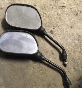 Зеркала левые на мото