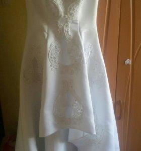 Платье свадебное плюс фата