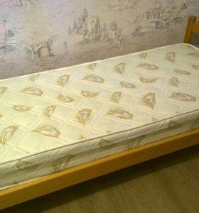 Кровать детская с ортопедическим матрасом. Ясень.