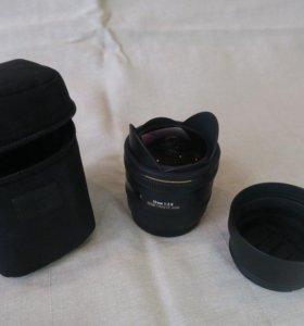 Объектив Sigma AF 10mm f/2.8 EX DC HSM Fisheye