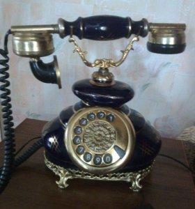 Телефон винтажный.кобальт.