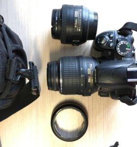 Зеркальный фотоаппарат Nikon D3100 + портретник