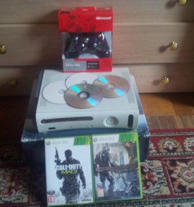 Xbox360 60GB +диски