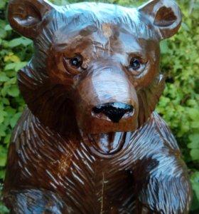 Медведь деревянный