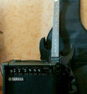 Гитара Ibanez GRG270B+усилитель Yamaha GA-15II