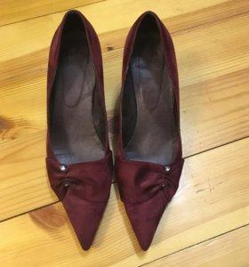 Туфли замшевые на шпильке 5см