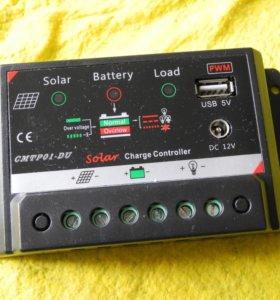 Контроллер для солнечной батареи, 5А, 12/5V, новый