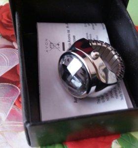Кольцо-часы новое