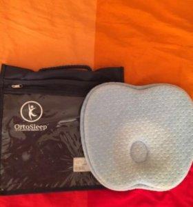 Детская ортопедическая подушка для младенца новая.