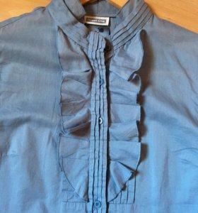 Рубашка серо-голубая