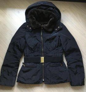 Зимняя куртка zara basic