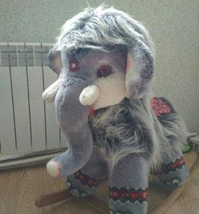 Стул - качалка слоненок