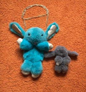 Сумка- рюкзак кролик 🐰 пушистик