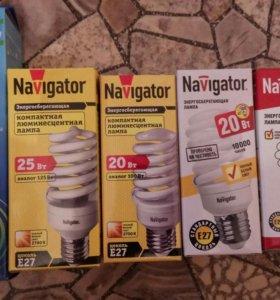 энергосберегающие лампочки новые с цоколем Е27