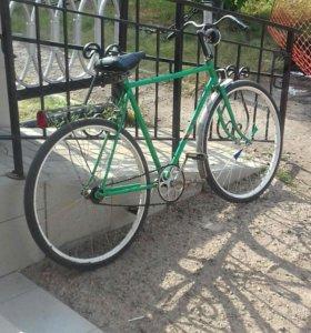 Велосипед Урал на ходу