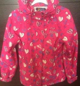 куртки для девочки 140р