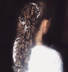 Причёски на праздник