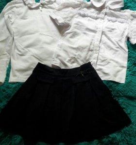 Школьная форма/юбка, блузка, бадлон
