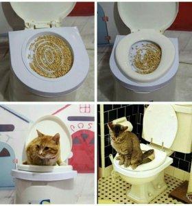 Лоток для приручения кошек к унитазу