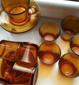 Чашки с блюдцами и стаканы DURALEX